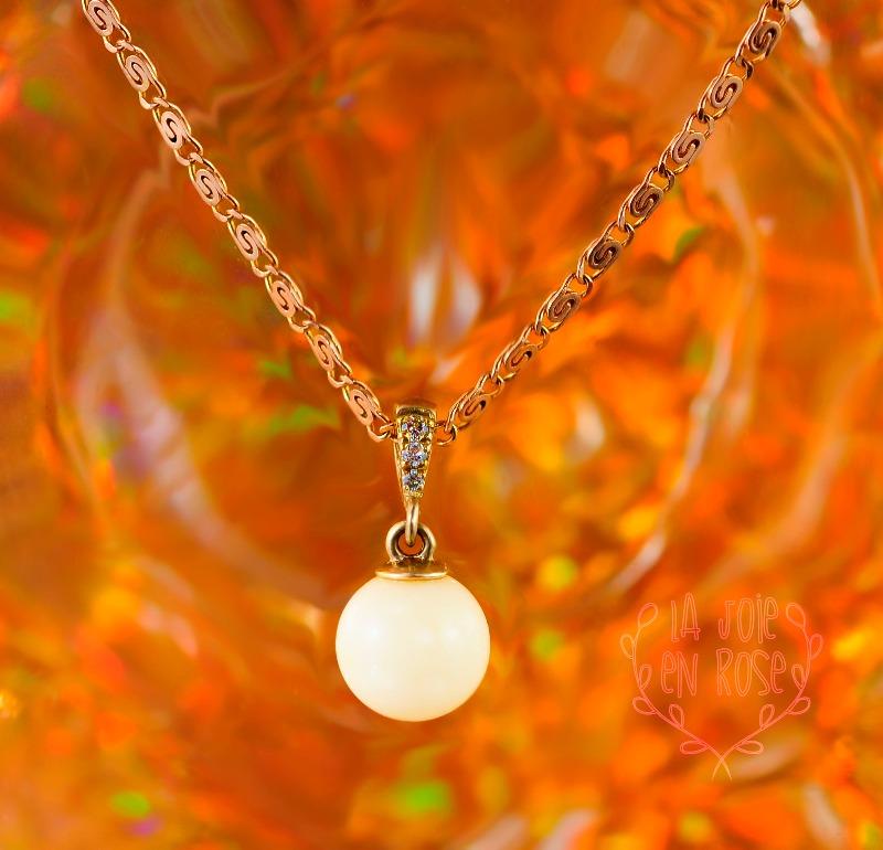 14k yellow gold breast milk pearl diamonds pendant for Breastmilk jewelry tree of life