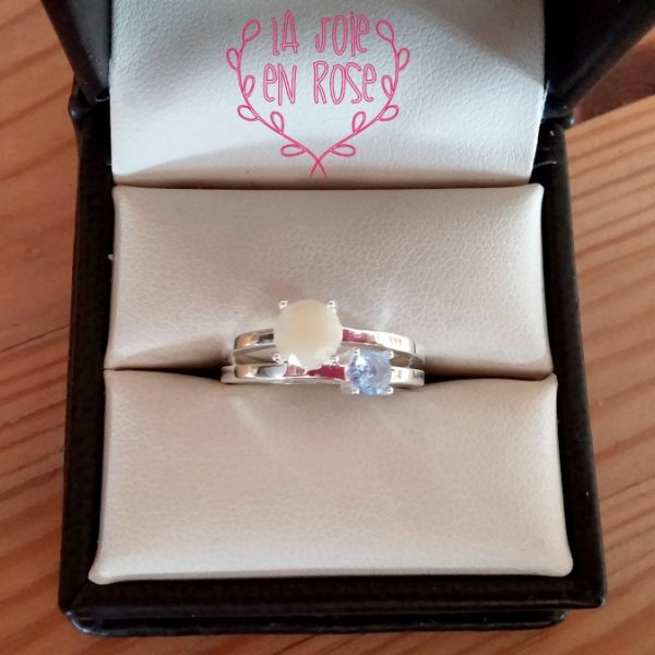 Two Stone Breast Milk Ring