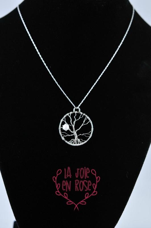 Tree of life breast milk 5mm pearl pendant lajoieenrose for Breastmilk jewelry tree of life