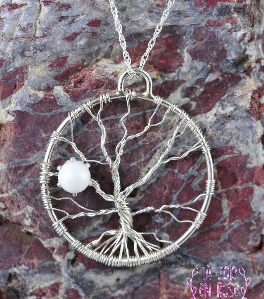 Pendentif lait maternel arbre de vie perle 5mm lajoieenrose for Breastmilk jewelry tree of life