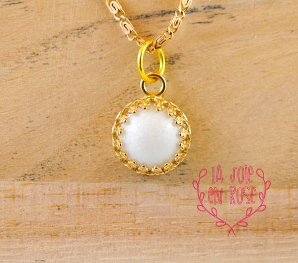 Breast milk 14k yellow gold pendant crown lajoieenrose for Breastmilk jewelry tree of life