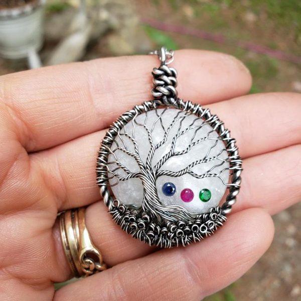 Arbre de vie collaboration artisanale lajoieenrose for Breastmilk jewelry tree of life