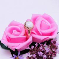 Bague Lait Maternel Couronne La Joie En Rose
