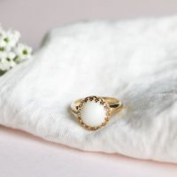 Bague Couronne Lait Maternel BreastMilk Crown Ring
