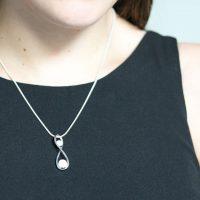 BreastMilk Pendant Infinity 2 pearls Pendentif Lait Maternel infinité 2 perles