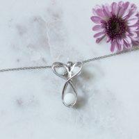 BreastMilk Pendant Infinity 3 pearls Pendentif Lait Maternel infinité 3 perles