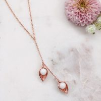 BreastMilk Jewelry Leafs Bijou Lait Maternel Feuilles Duo