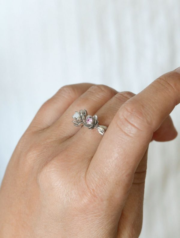 Bague Lait Maternel 2 pierres Bijou Allaitement Breast Milk Ring 2 stones Breastfeeding