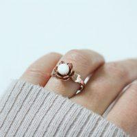 BreastMilk Jewelry Flower Ring Bijou Lait Maternel Fleur Bague