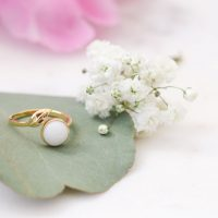 Bague Lait Maternel Feuille BreastMilk Ring Leaf