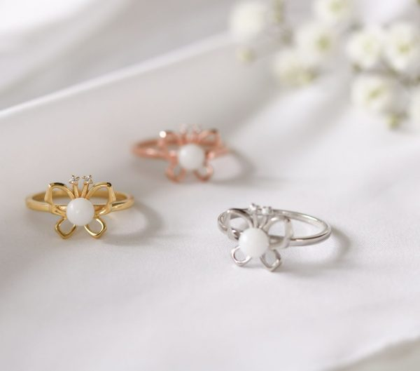 Bague Lait Maternel Papillon Butterfly BreastMilk Ring